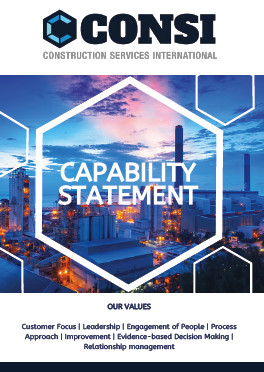 CONSI Capability Statement Cover Page